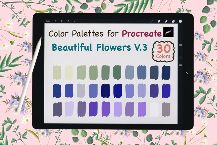 Color Palettes set for Procreate - Beautiful Flower V.3 example image 1