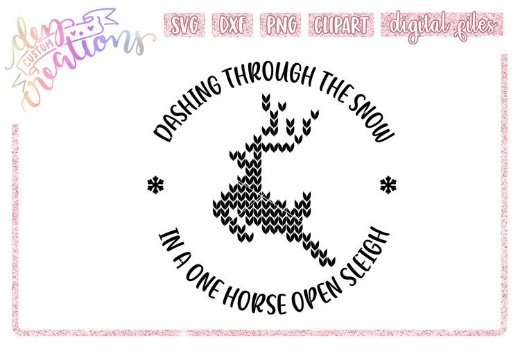 Dashing Through The Snow - SVG DXF PNG - Digital Craft File