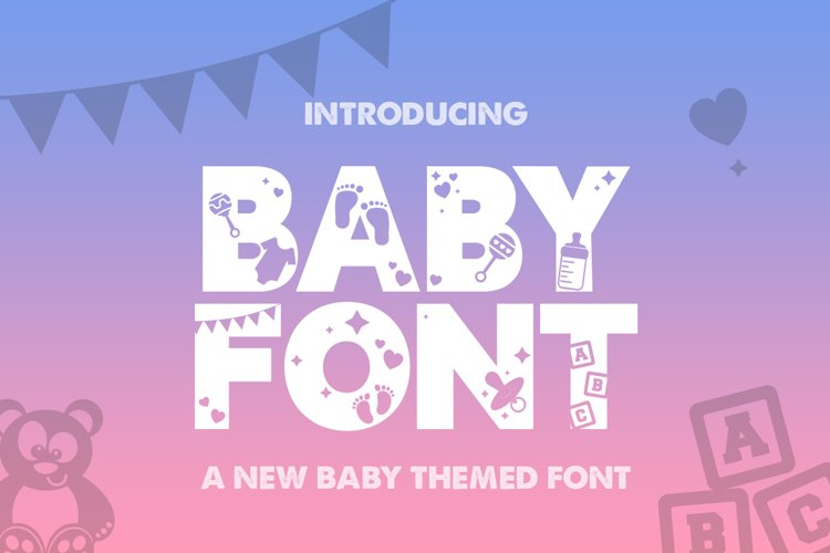 Baby Silhouette Font example image 1