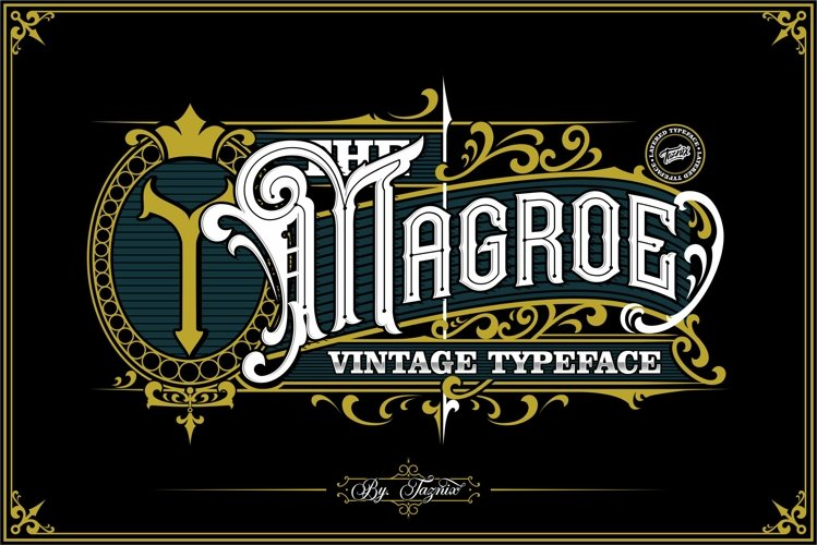 Magroe Vintage Typeface example image 1