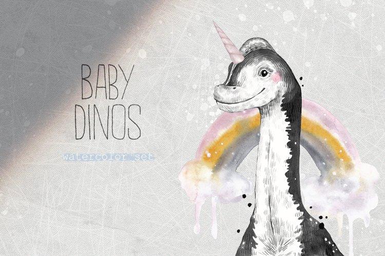 BABY DINOS watercolor set