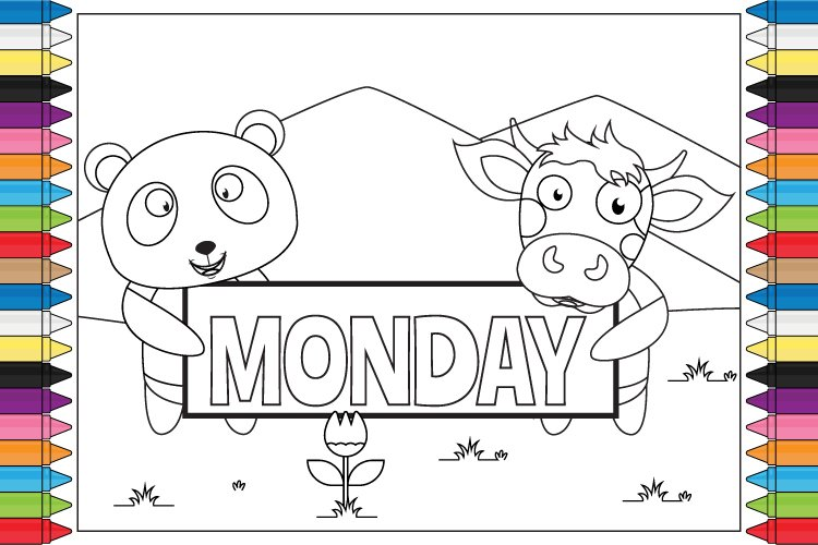 coloring name of day for kids example image 1