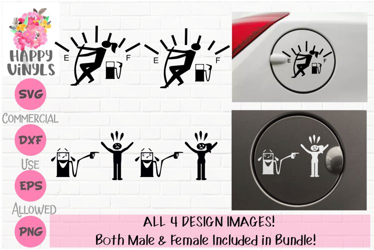 Gas Needle and Pump Designs - A Funny Decal SVG Bundle