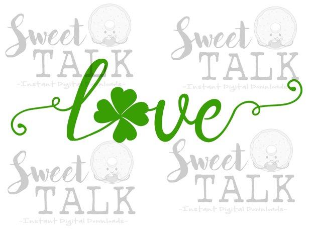 St. Patricks Day svg, png, dxf, jpg, Shamrock Love