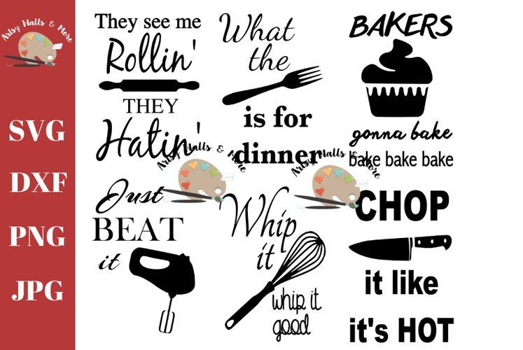funny kitchen decor svg, baking song lyrics kitchen sign svg example image 1