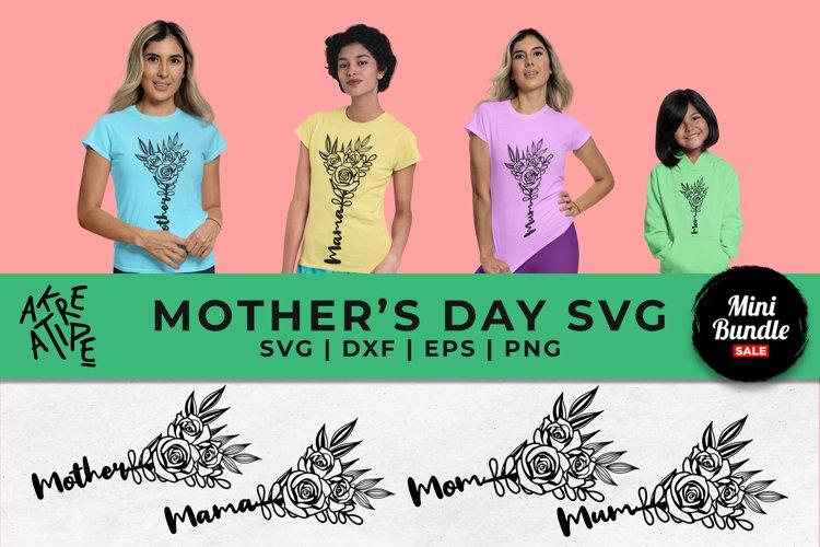 Floral Mothers Day Sublimation SVG | Mom Bundle SVG