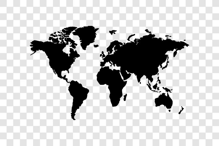 World map symbol black vector design isolated example image 1