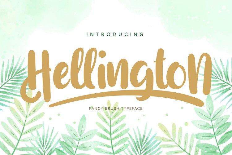 Hellington | Fancy Brush Typeface example image 1