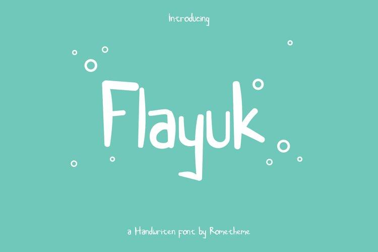 Flayuk Display Font example image 1