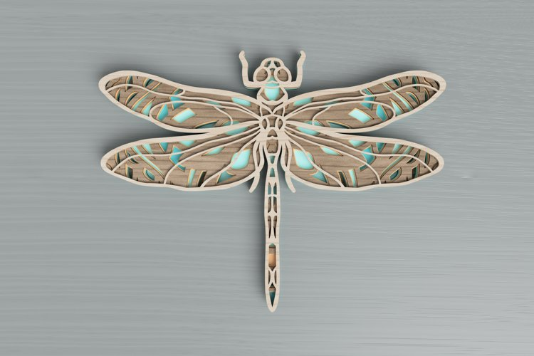 Insect laser cut file - Dragonfly Mandala example image 1