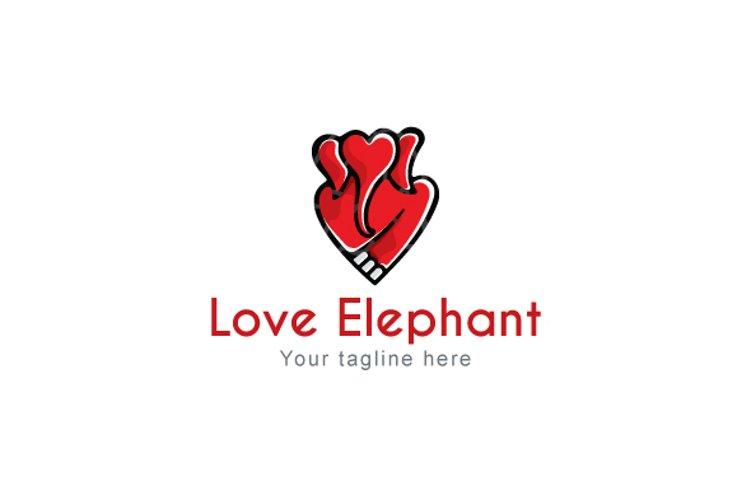 Love Elephant - Creative Heart Shape Animal Stock Logo example image 1