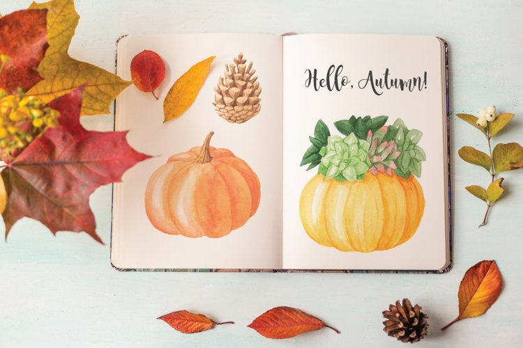 The Watercolor Autumn Collection  - Free Design of The Week Design2