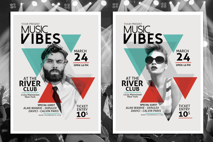 Minimal Music Flyer Template example image 1