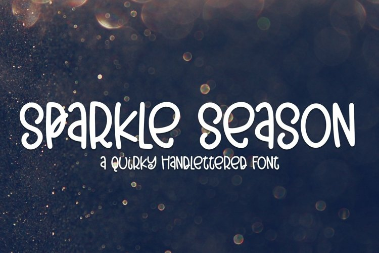 Web Font Sparkle Season - A Quirky Hand-Lettered Font example image 1