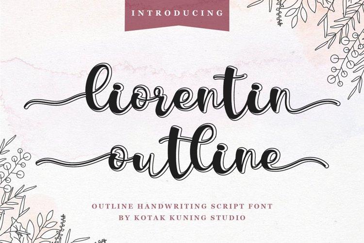 Outline Script Font - Liorentin Outline example image 1