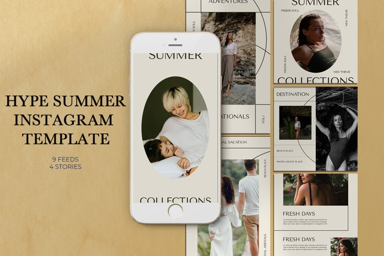 Hype Summer Instagram Templates example image 1