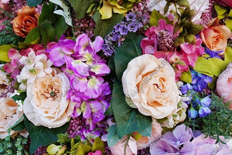 Abstract background of beautiful flowers. Close-up. example image 1