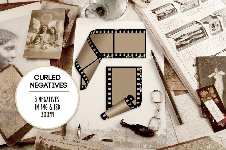 Curled Film Negative Frames