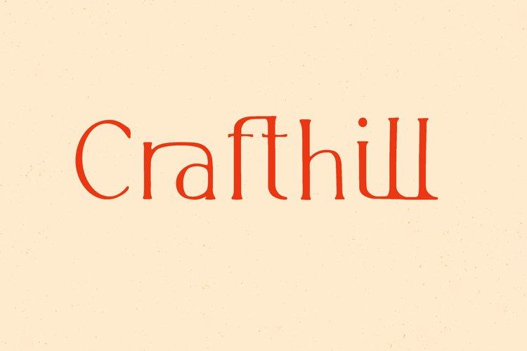 Crafthill. Elegant Serif Font example image 1