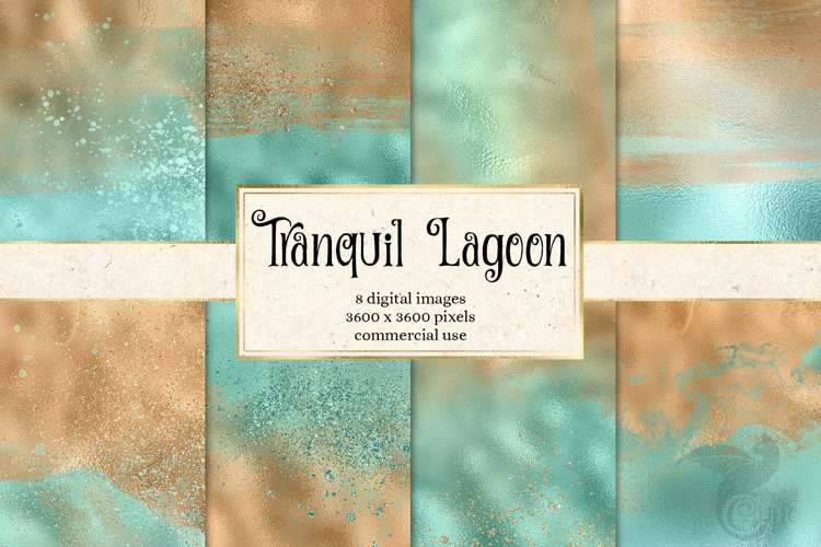 Tranquil Lagoon Digital Paper example image 1