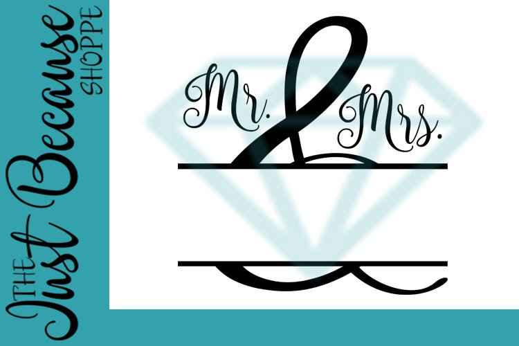 Mr. & Mrs. SVG File, Personalize It Design - 0073 example image 1