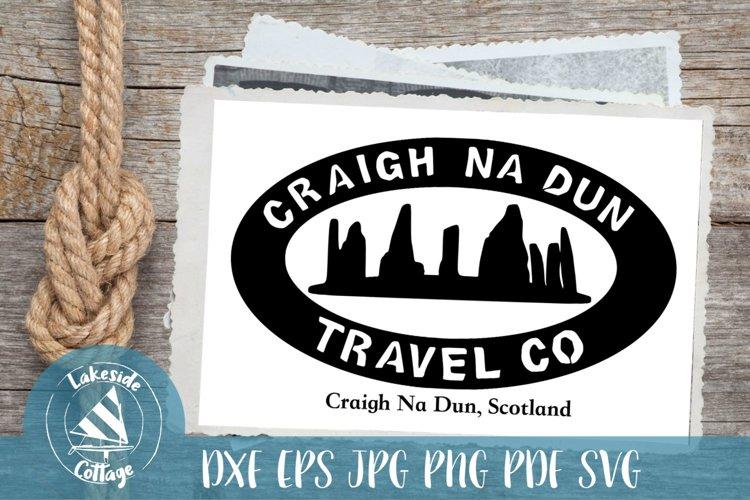 Craighn Na Dun Travel Co outlander satire - Outlandish svg