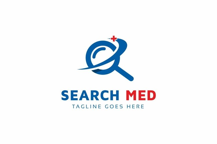 Medical Search Logo Template example image 1