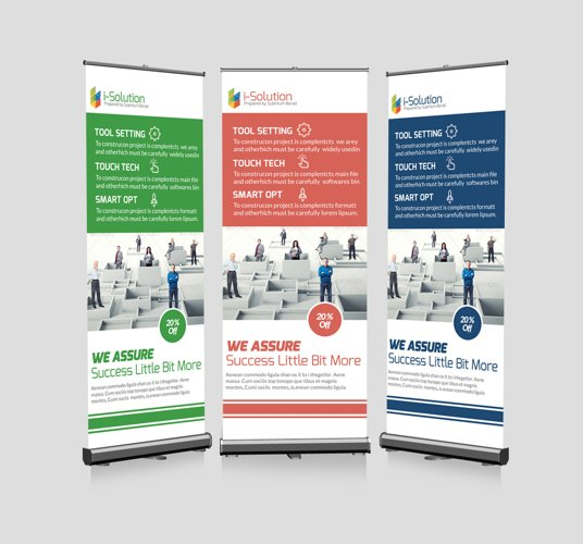 Business Problem Solution Roll Up Banners example image 1