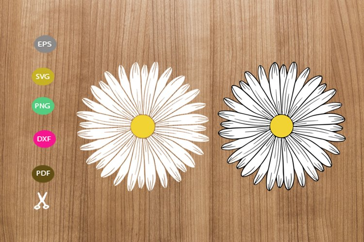 daisy svg cut file,daisy silhouette,flower svg for cricut example image 1