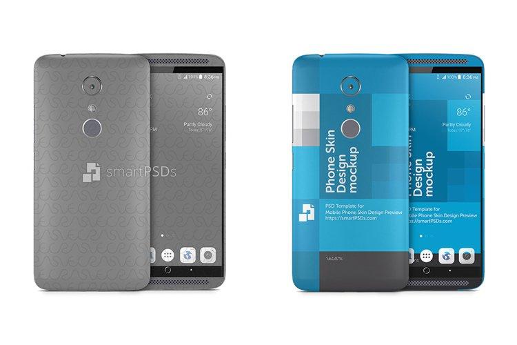 ZTE Axon 7 Mobile Skin Design Template 2016 example image 1