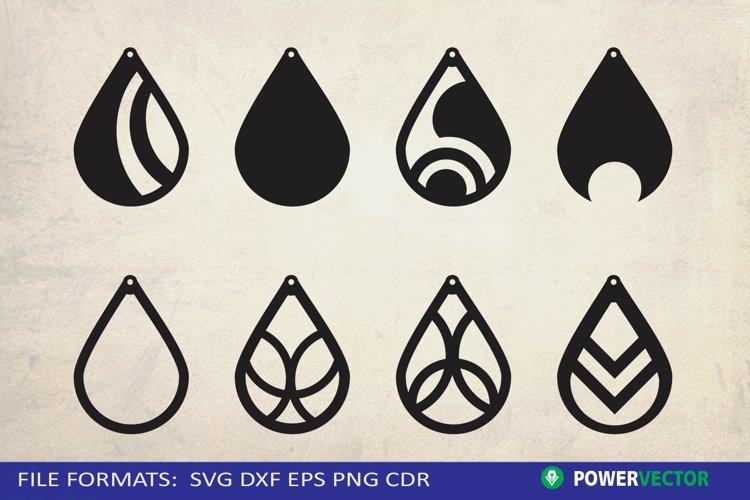 Teardrop Earrings SVG | Jewelry vector cutting Files