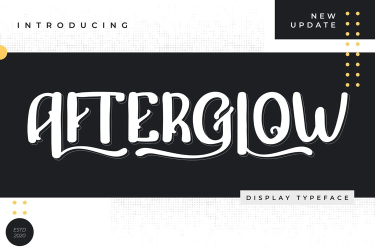 Afterglow | Display Typeface Font example image 1