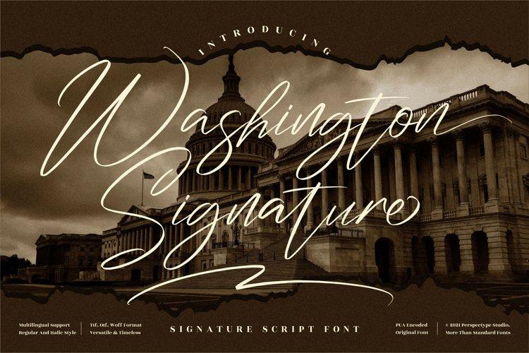 Washington Signature - Signature Script Font example image 1