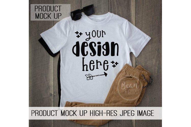 Kids White Shirt Mock up Product Mock up