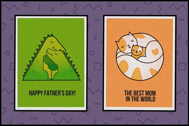 Animal Hugs Bundle - Illustrations and patterns example 5