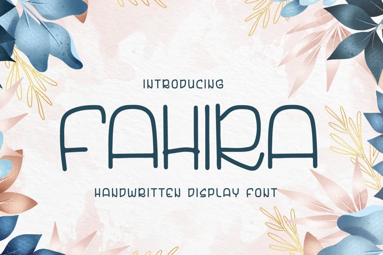 Fahira - handwritten font example image 1