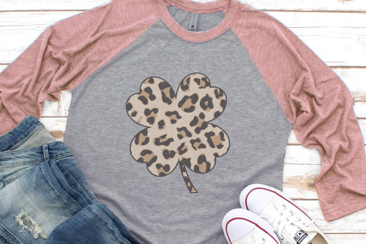 Leopard Shamrock - Leopard Print - St Patricks Day SVG
