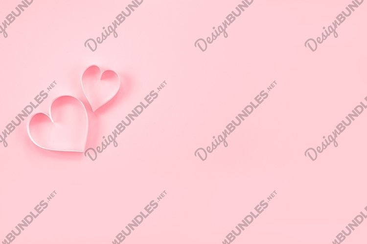 Heart on a pastel pink background. Valentine's Day. example image 1
