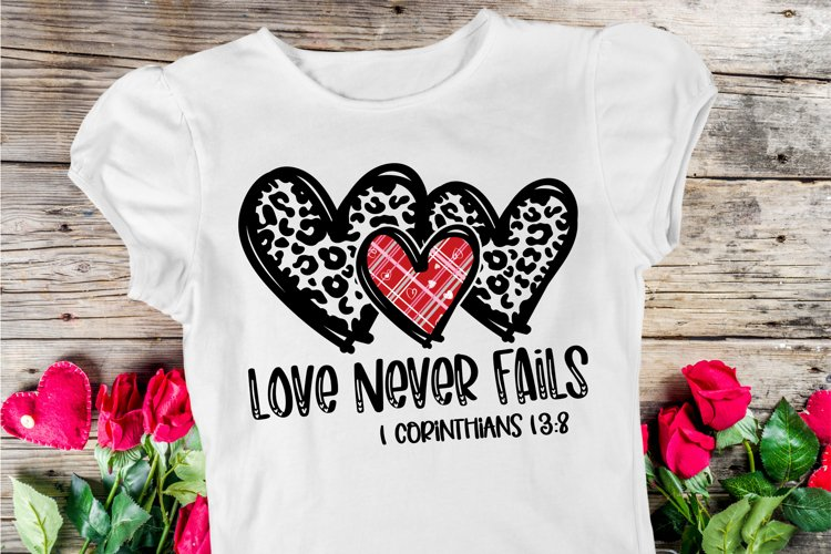 Love Never Fails SVG DXF PNG