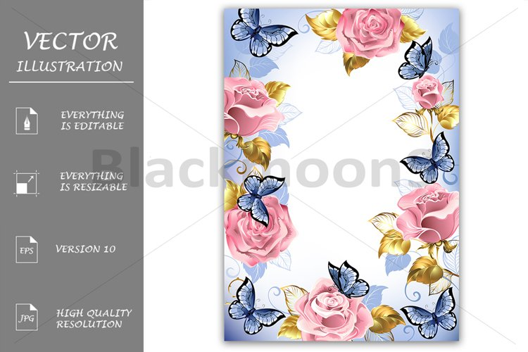 Frame with Pink Roses example image 1