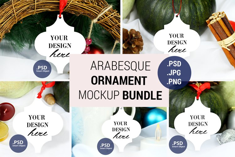 Arabesque Tile Ornament mockup Bundle, PSD JPG mockup bundle