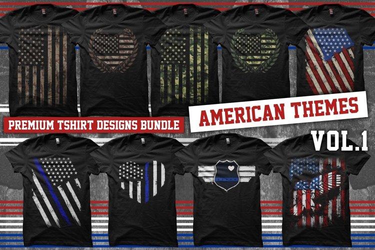 Bundle Premium T-Shirt Designs - American Themes - Volume 1