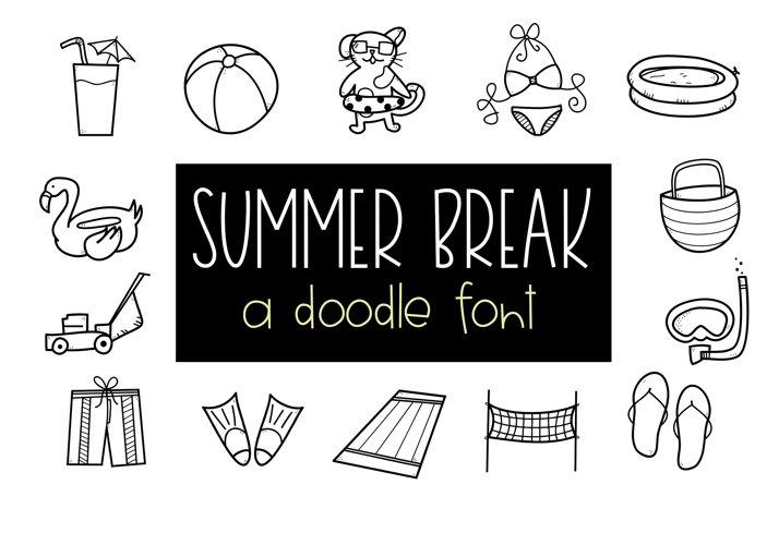 Summer Break / Summer Doodle Font  example image 1