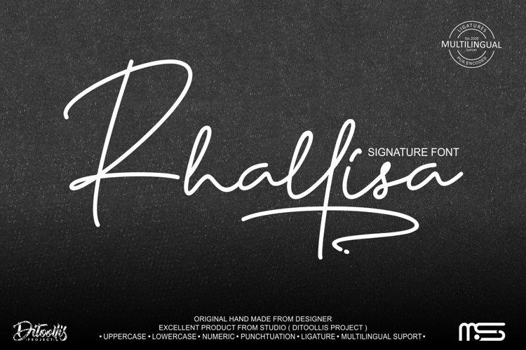 Rhallisa - A Signature Font example image 1