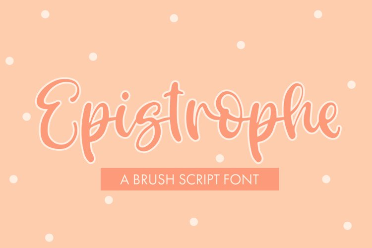 Epistrophe - A Brush Script example image 1