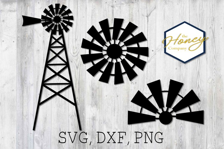 Home SVG PNG DXF Farm Windmill Sign Cutting File Vector example image 1