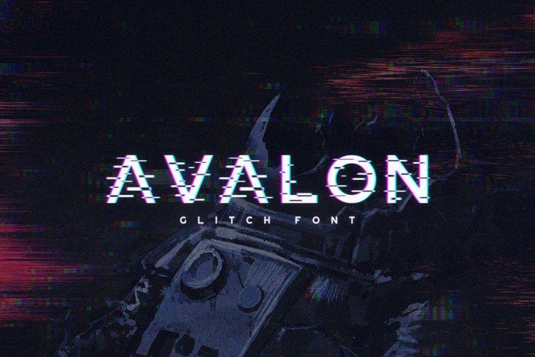 Avalon - Glitch Font example image 1