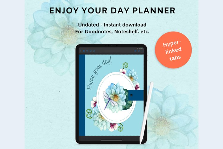 Digital Planner Enjoy Your Life For Ipad, Iphone, Goodnotes