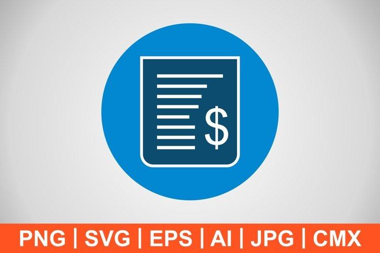 Vector Receipt Icon example image 1
