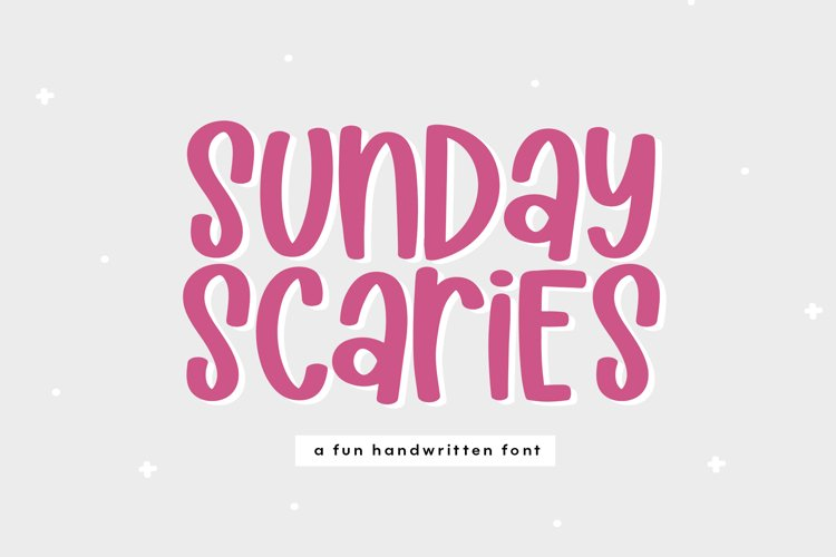 Sunday Scaries - A Fun Handwritten Font example image 1